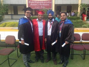 Professor (Dr.) Sharad Gupta with PG students at ITS Dental college Convocation Event 2014